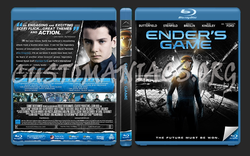 Ender's Game blu-ray cover