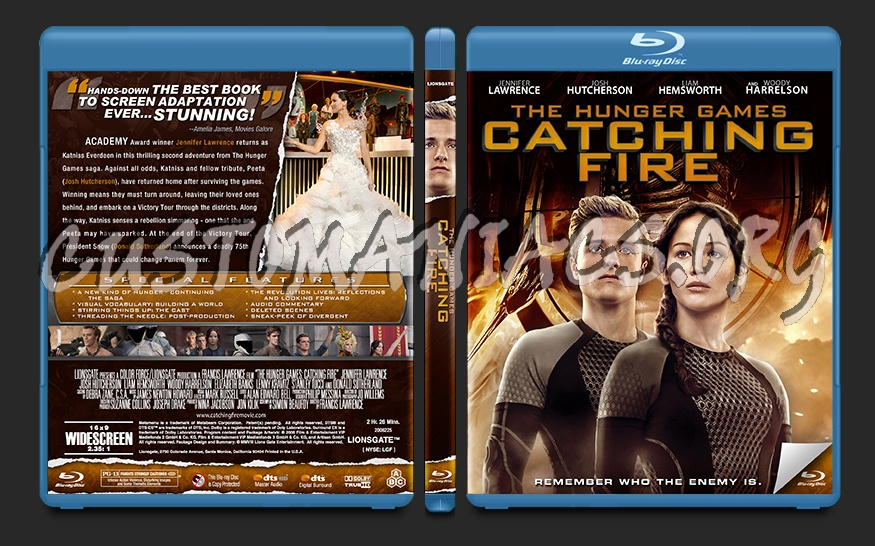 The Hunger Games: Catching Fire blu-ray cover