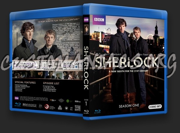 Sherlock Season 1 blu-ray cover - DVD Covers & Labels by