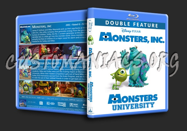 Monsters Double Feature blu-ray cover