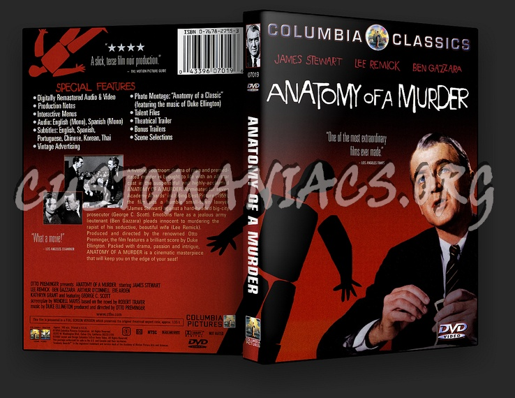Anatomy Of A Murder Dvd Cover Dvd Covers Labels By Customaniacs