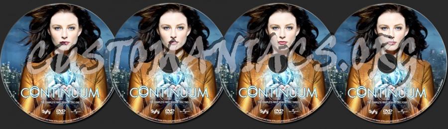 Continuum Season 1 dvd label