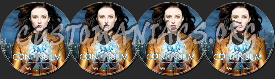 Continuum Season 1 blu-ray label