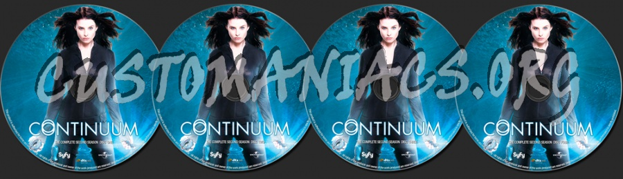 Continuum Season 2 blu-ray label