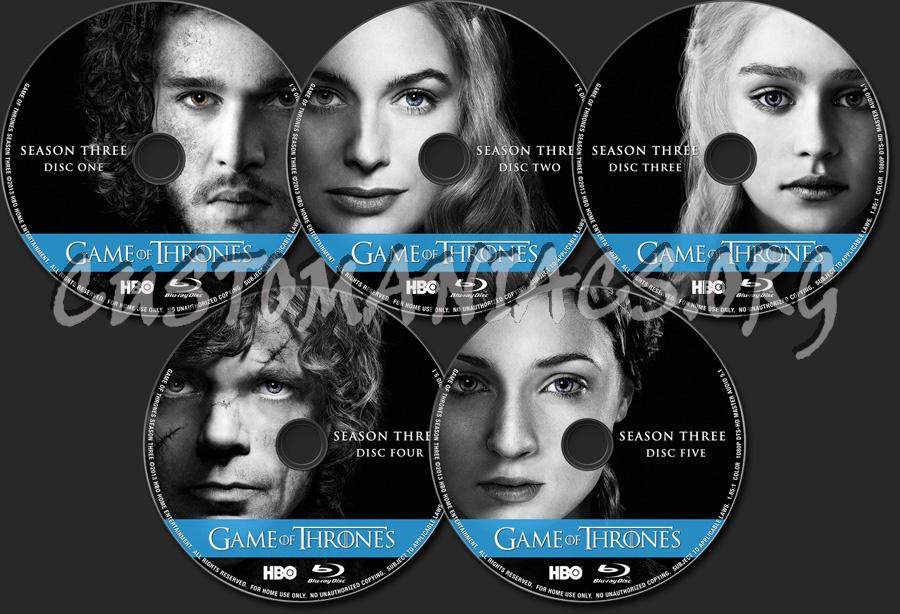 Game of Thrones Season 3 blu-ray label