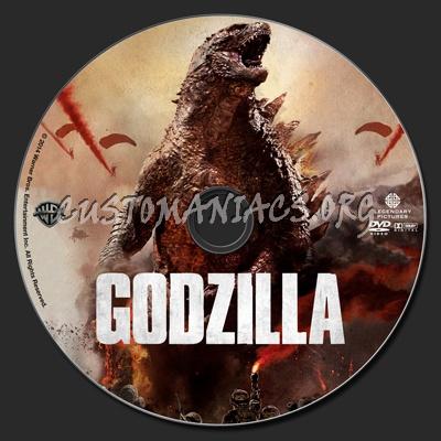 Godzilla (2014) dvd label
