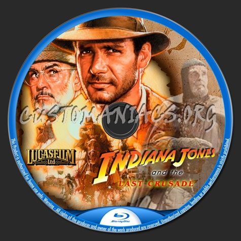 Indiana Jones And The Last Crusade blu-ray label