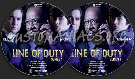Line of Duty - Series 1 dvd label