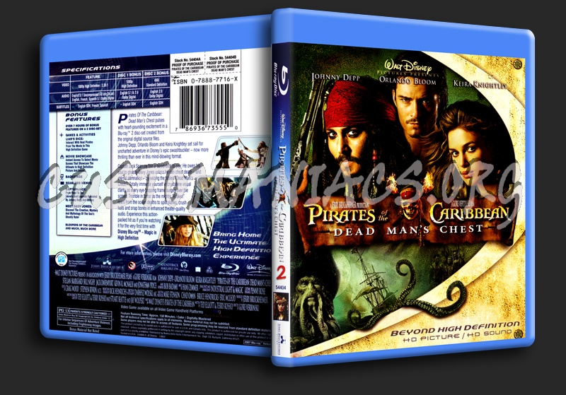 Pirates of the Caribbean 2 Dead Man's Chest blu-ray cover