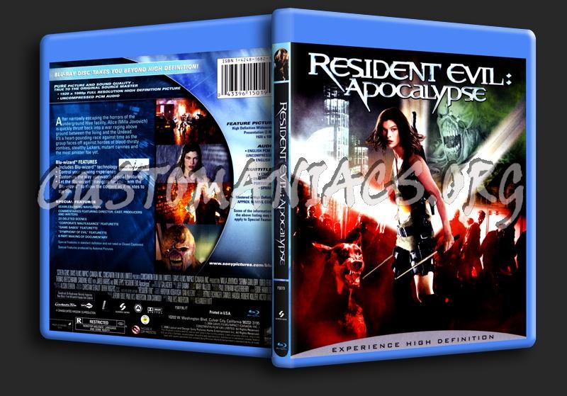 Resident Evil Apocalypse blu-ray cover