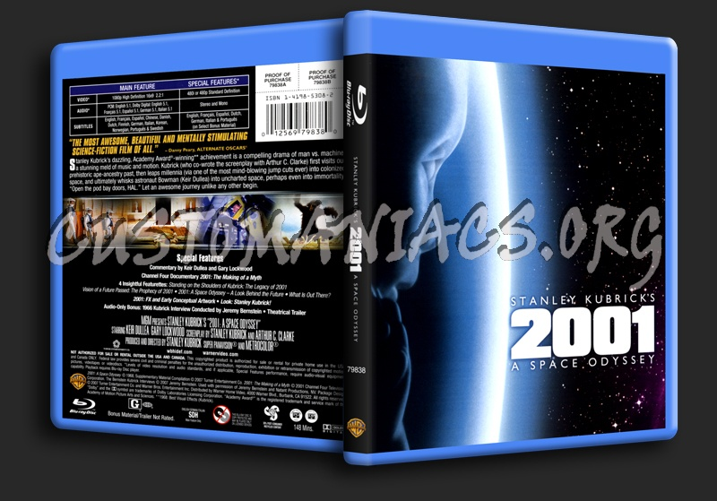 2001 A Space Odyssey blu-ray cover