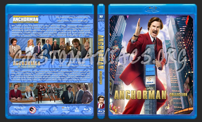 Anchorman Collection blu-ray cover