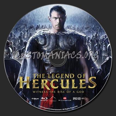 The Legend Of Hercules blu-ray label