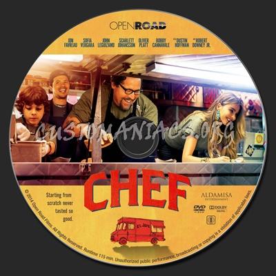 Chef dvd label