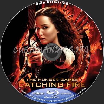 The Hunger Games - Catching Fire blu-ray label