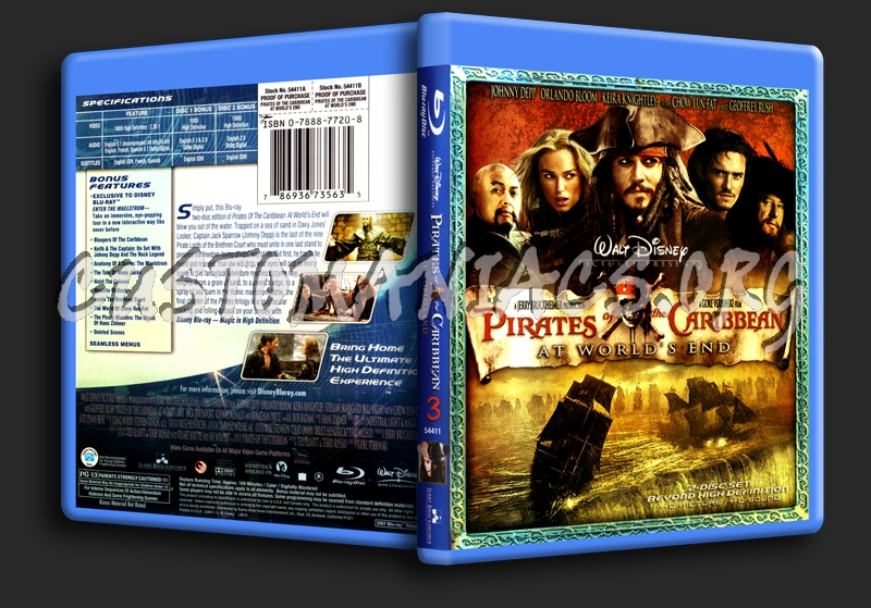 Pirates of the Caribbean at World's End blu-ray cover