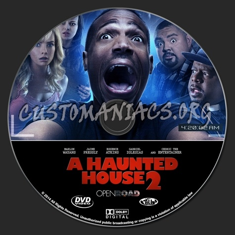 A Haunted House 2 dvd label - DVD Covers & Labels by