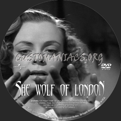 She-Wolf of London dvd label