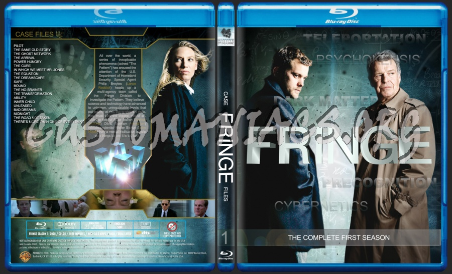 Fringe Season 1 blu-ray cover