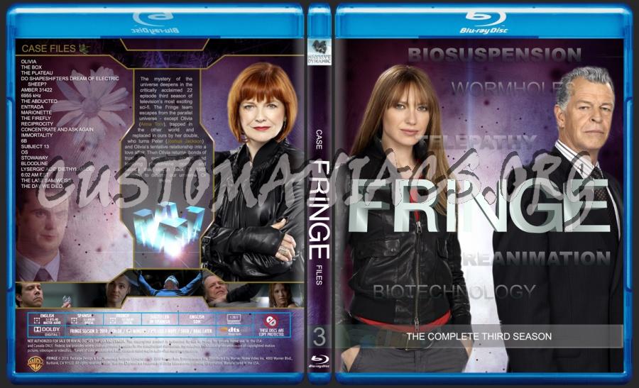 Fringe Season 3 blu-ray cover