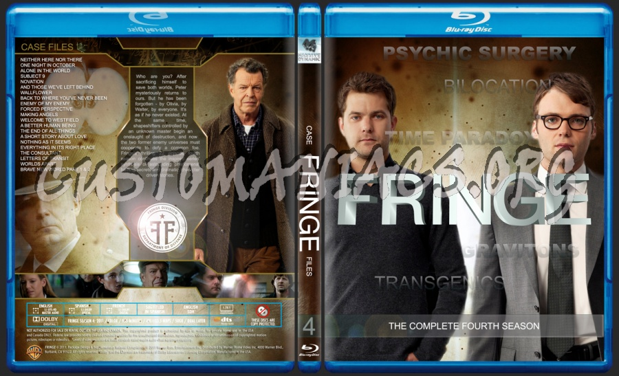 Fringe Season 4 blu-ray cover