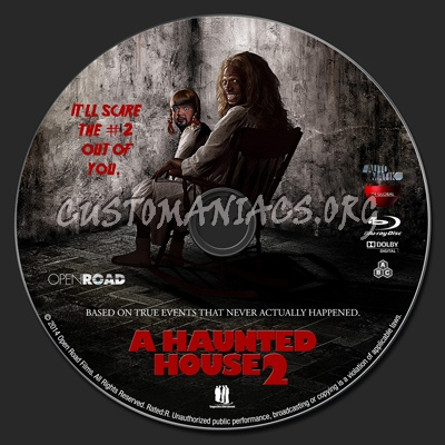 A Haunted House 2 blu-ray label - DVD Covers & Labels by
