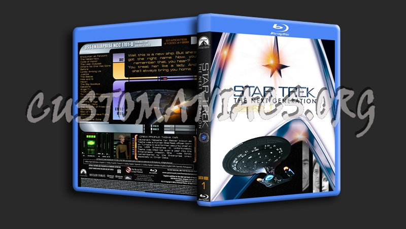 Star Trek The Next Generation Season 1 blu-ray cover