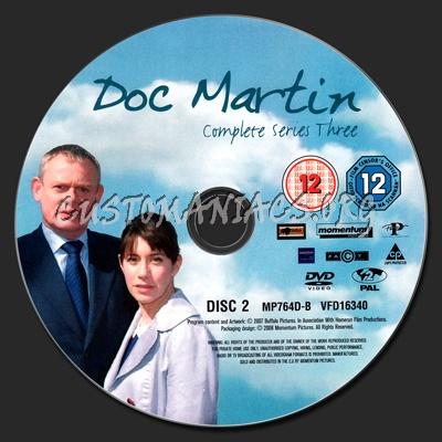 Doc Martin: Series 3 dvd label