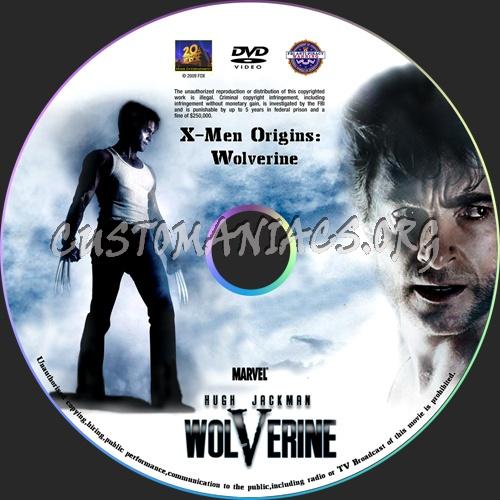 X-Men Origins: Wolverine dvd label