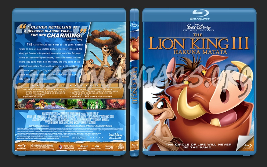 The Lion King 3 blu-ray cover