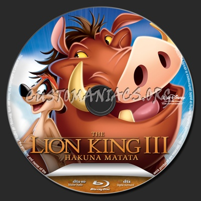 The Lion King 3 blu-ray label