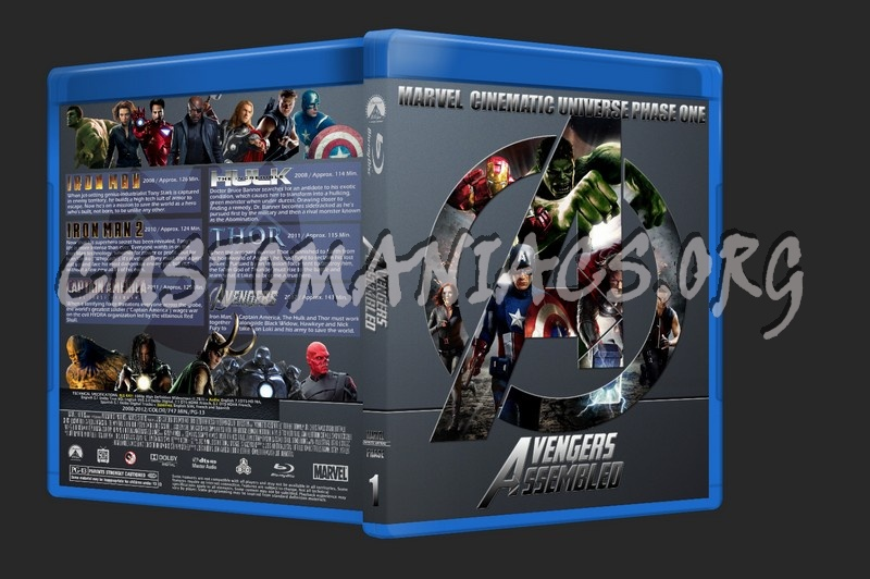 Avengers Assembled - Marvel Cinematic Universe Phase One blu-ray cover