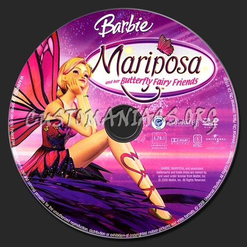 Barbie Mariposa and Her Butterfly Friends dvd label
