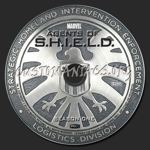 Agents of S.H.I.E.L.D. - Season 1 dvd label