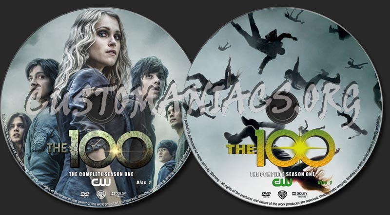 The 100 Season 1 dvd label