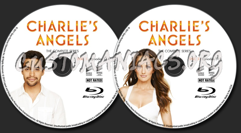 Charlie's Angels - The Complete Series blu-ray label