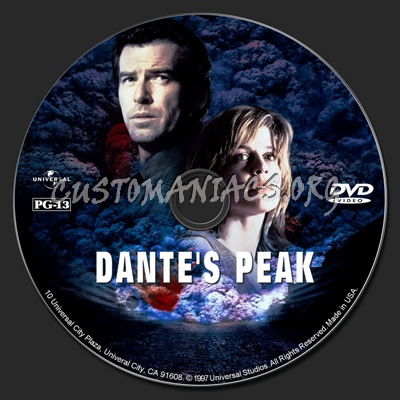 Dante's Peak dvd label