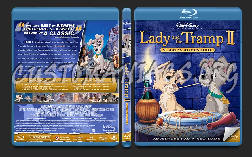 Lady and the Tramp 2: Scamp's Adventure blu-ray cover