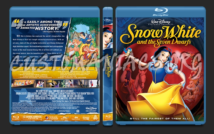 Snow White and the Seven Dwarfs blu-ray cover