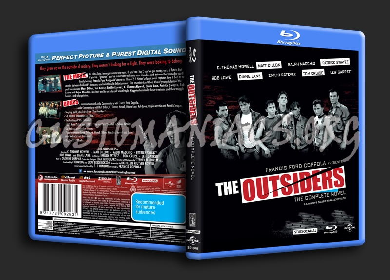 The Outsiders blu-ray cover