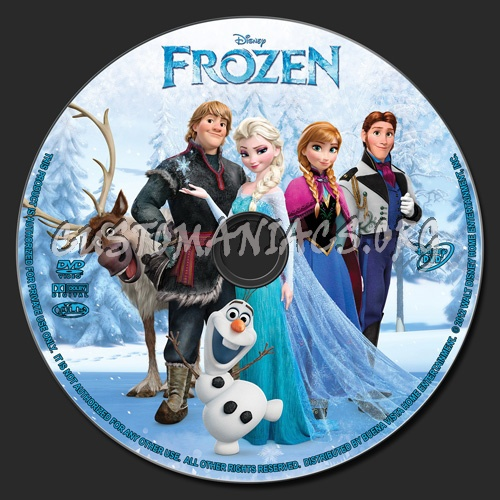 Frozen dvd label