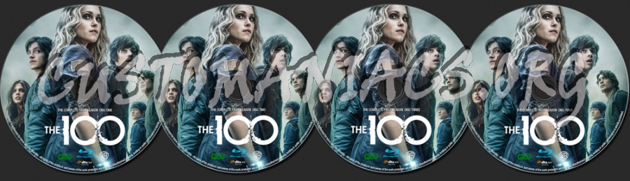 The 100 Season 1 blu-ray label