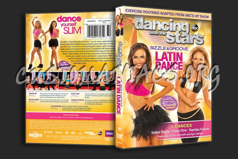 Dancing With the Stars Sizzle & Groove Latin Dance dvd cover