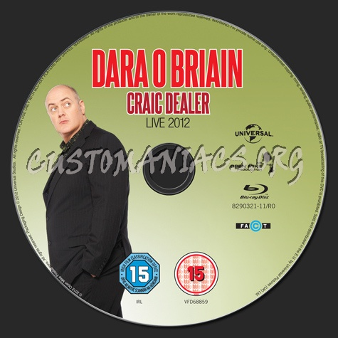 Dara O Briain Craic Dealer blu-ray label