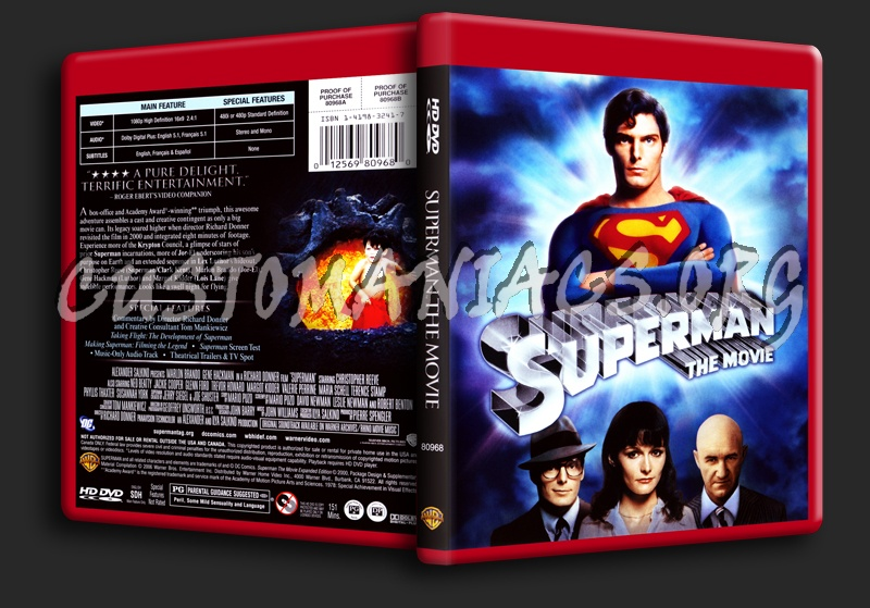 Superman The Movie dvd cover