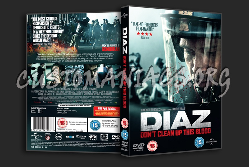 Diaz Don't Clean Up the Blood dvd cover