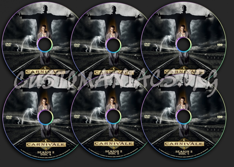 Carnivale Season 2 dvd label