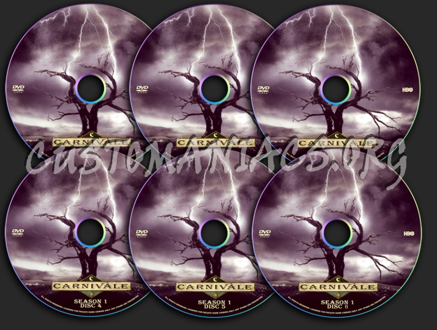 Carnivale Season 1 dvd label