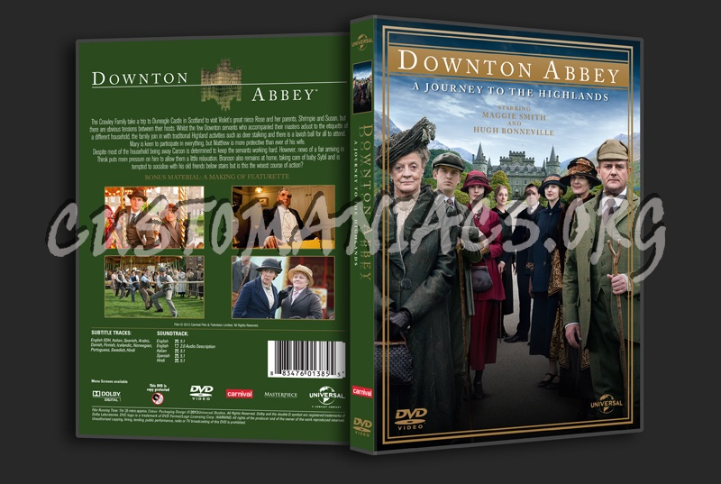 Downton Abbey A Journey to the Highlands dvd cover