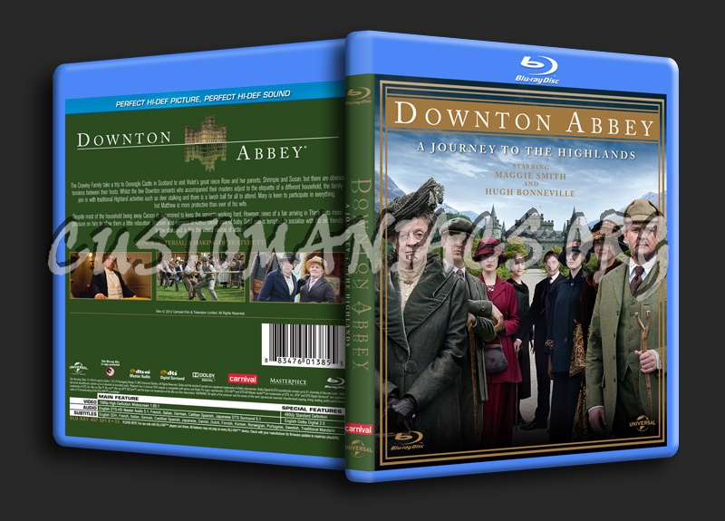 Downton Abbey A Journey to the Highlands blu-ray cover